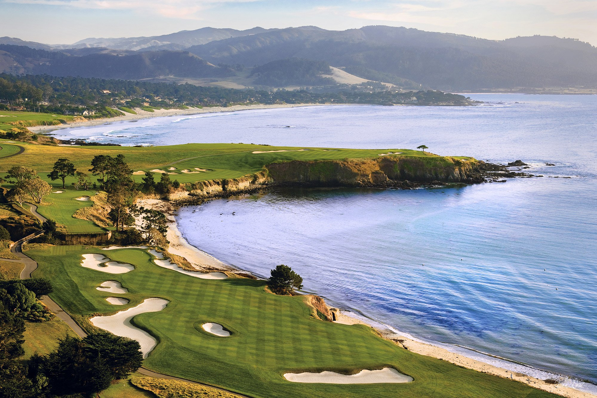 Pebble Beach CA Aerial